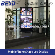 BESD easy move mobile iphone led screen p3 mobile iphone shape led display