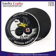 Wholesale custom embossed 3d pvc rubber label patches for clothing