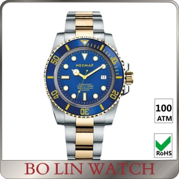 stainless steel men watch wholesale automatic watch from shenzhen