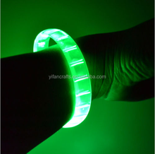 12 PC LED Flashing Light Up Green Bracelets Wristbands Glow Party Favors Toys