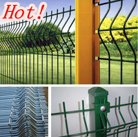 Used PVC coated security fence for garden / construction /road / residence / factory