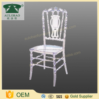 Modern luxury wedding banquet Beautiful bride acrylic lucite vanity chair for sale