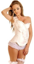 High quality fashion corsets and bustier Women Hot sexy summer wear xxxl plus size Lace Cup satin corset sexy lingerie