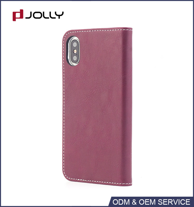 Top Selling sample free flip leather case for iPhone X