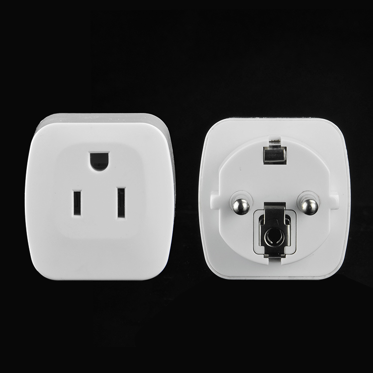 Power Plug Adapter USA US to EU Europe AC wall power plug phone travel Adapter