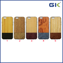 [GGIT] Wood Leather Skin PC Cover TPU Border Hybrid Phone Case For IPhone 6 Celulares