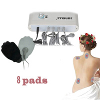8 pads fat & weight loss body massage vibrator machine, magnetischer professional muscle body massage vibrator