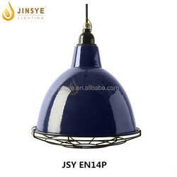 Gold color designer lighting shade suspension pendant lamp enamel light