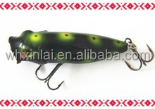 artificial type bait fishing lure XL004 hot selling 3D eyes popper fishing lure