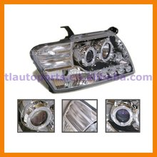 Angel Eyes Projector Head Lamp With Convex Lens Optic For Mitsubishi Pajero Montero V73 V75 V77 V78 2001 - 2011