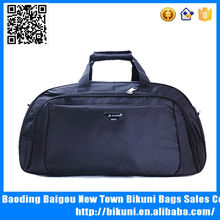 High quality nylon fashion black travel sports simple duffle bag