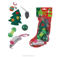 Fashion Christmas Gift Set Pet Dog Cat Toys Kitten Play Fun Toy Mouse Mice Cute