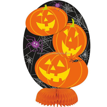 "Hot sale 8"" Halloween Pumpkin honeycomb centrepieces party decorations"