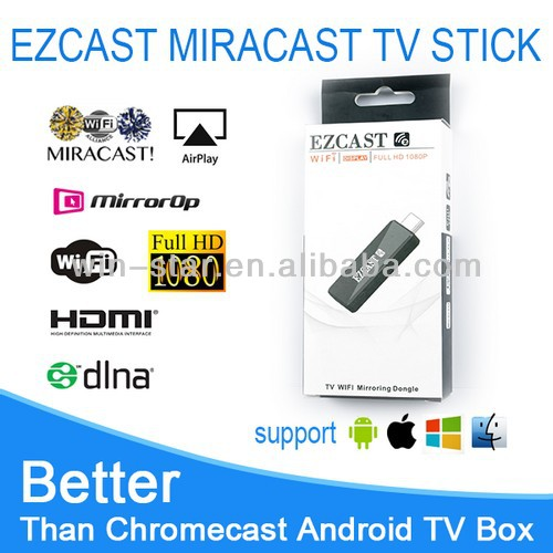 2014 new design EZCAST google chromecast hdmi streaming media player/chromecast miracast dongle TV sticker