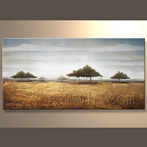 Modern Handmade Landscape Oil Paintings Village