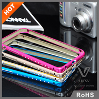 Colorful Calls diamond aluminum metal Bumper Cases for iPhone 6 6s 6plus