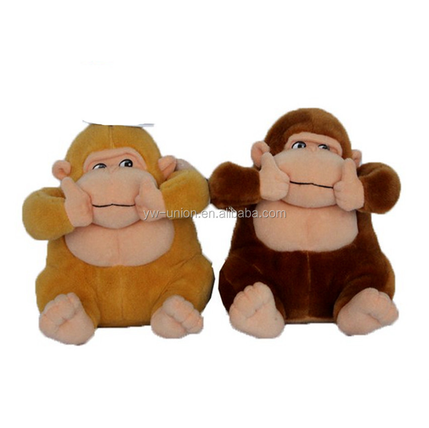 Big size plush monkey toy/ hot sale birthday gift toychairman big boss cute sock monkey toy