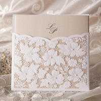 White laser cut paper wedding supplies/ Wedding Invitation card /greeting card W1101