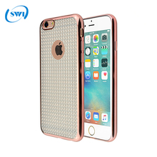 Wholesale electroplating cover case for iPhone 6 plus featured with Shiny TPU mobile phone case for Apple iphone 6 plus