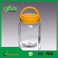top selling prodcut in alibaba empty plastic pet clear plastic cookie jar