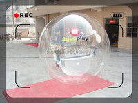 White color inflatable water ball pvc/tpu material walking rolling ball for sale