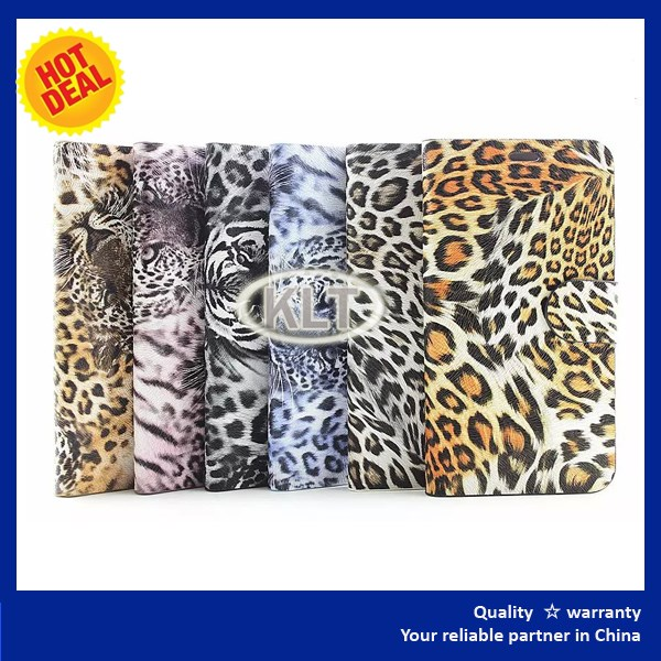 genuine leather case for iphone 6 Leopard pattern cover with good design