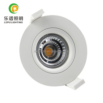 gyro 83mm cutout dim warm 2000k-2800k cob led downlight 0-100% dimmable 9w IP44 with elko