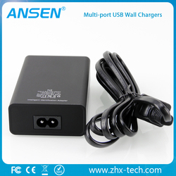 innovative products for sell high efficiency 5 ports 5V 8A 40W Intelligent multi USB wall charger for samsung huawei meizu