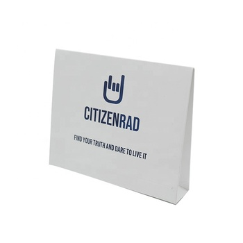 Customized small 230gsm white card paper eyelet envelope packaging