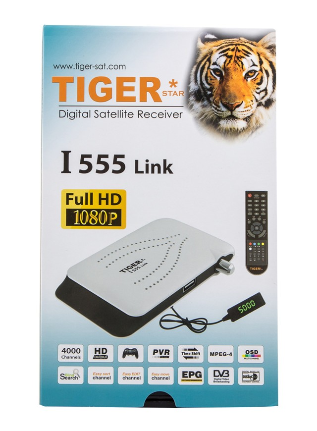 Best Selling! Digital satellite receiver decoder 4000channels I555 Link with Digital HD DVB S2 / USB WIFI