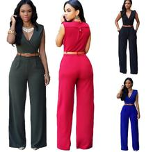 zm53115a New Arrival Summer chiffon plain fashion causal women jumpsuits wholesale 2017