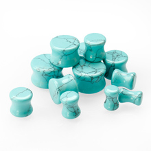 Double flare tunnels ,turquoise ear plug gauge for ear healthy