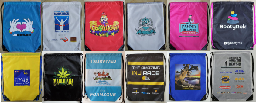 China Manufacturer Customized 210D Polyester Sport Drawstring Backpacks
