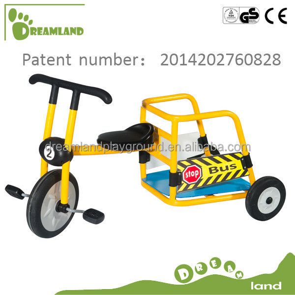 CE certificated Ages 4-8 School Bus Kids Metal Tricycle