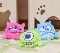Amazon hot style toy pet plush voice toy ball cat tease dog teeth grinding voice training ball