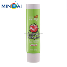 Empty Aluminum Plastic Screw Cap Laminated Toothpaste Tube