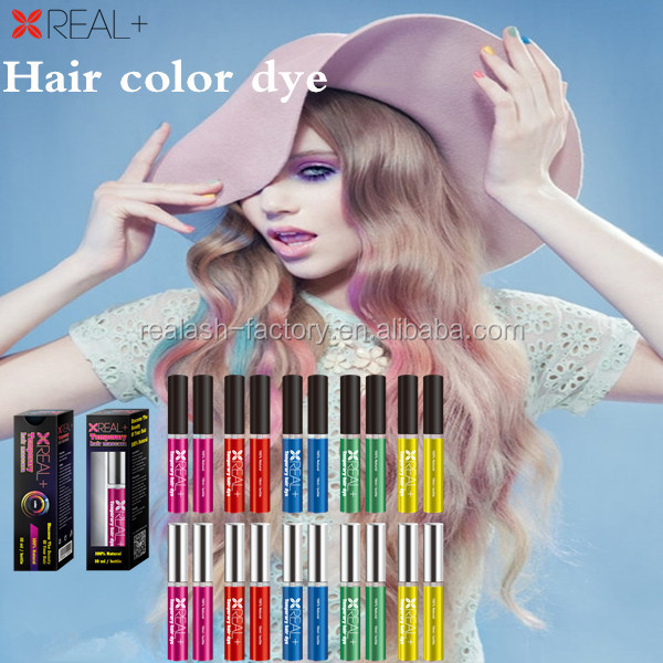 2016 highest demand hair color products Real plus Hair coloring mascara