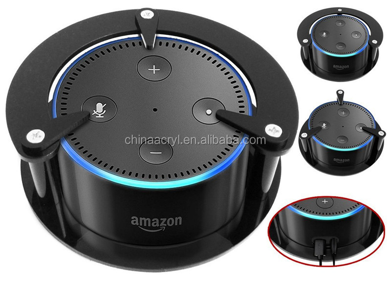 Acrylic material speaker stand hot sell amazon echo stand