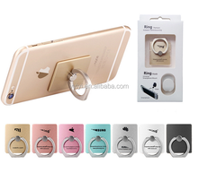 (Factory) Hot on Amazon Ebay Mobile Phone Ring Stand Destop Finger Ring Holder for iPhone/Android, Metal Cellphone Ring Bracket