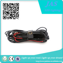 Relay wire harness with LED light bar rocker switch for LED bar lamp harness