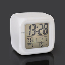 Color Changing Custom Logo Mini Travel Pretty Digital Alarm Clock