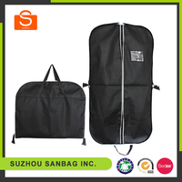 Eco-friendly hanging nonwoven garment bags, foldable nonwoven suit cover, cheap nonwoven garment bag
