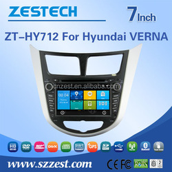 7'' double din car dvd for Hyundai Solaris/ Verna/ Accent with dvd player multimedia