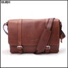 Latest china factory customized shoulder leather messenger bag men