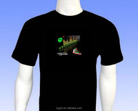 Nike shoes design equalizer led t-shirt el sound actived t-shirt and inverter and high brightness