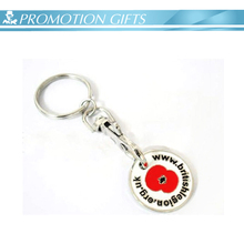 custom medel shopping coin keychain logo