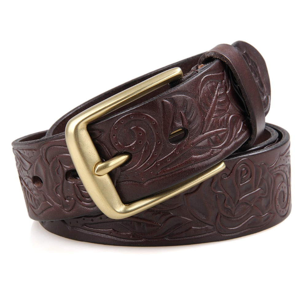 Classic High Quality Italy Vegetable Leather Men's Belt Accept Mixed Wholesale B013Q