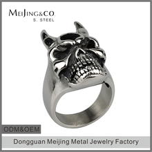 316l Stainless Steel Jewelry Bulk Engraved Skull Head Ring