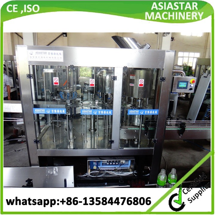 Newest automatic monoblock 3 in 1 bottled mineral water filling machine price