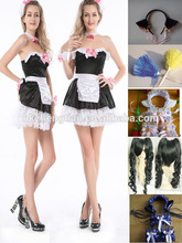 Leading China Factory S-6XL plus sizeHot Sale Sexy Costume For French Maid Ladies Beer Maid Wench German Oktoberfest Costume Out